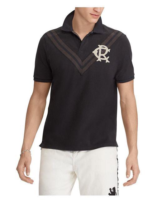 Polo Ralph Lauren - Black Collegiate Chevron Striped Short-sleeve Polo Shirt for Men - Lyst