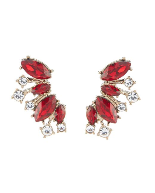 Givenchy - Red Cluster Crawler Earrings - Lyst