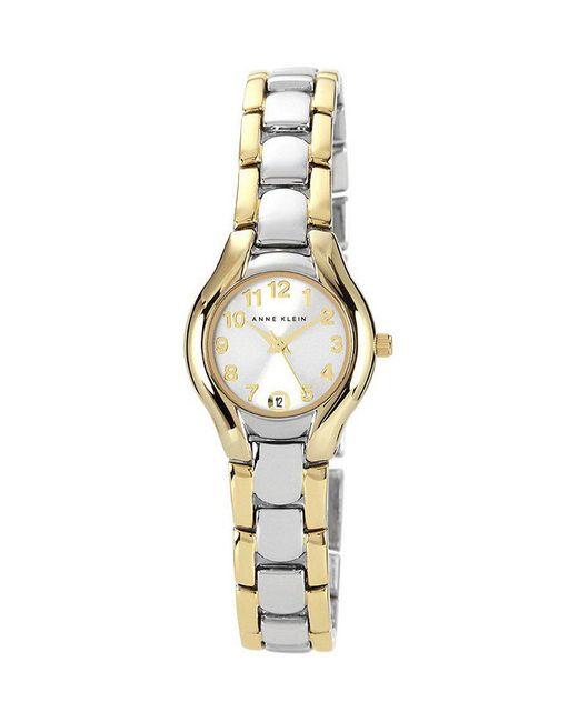 Anne Klein   Metallic White Dial 2 Tone 2 Hand Watch   Lyst