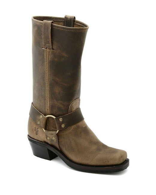 Frye | Black Harness 12r Leather Square-toe Boots | Lyst