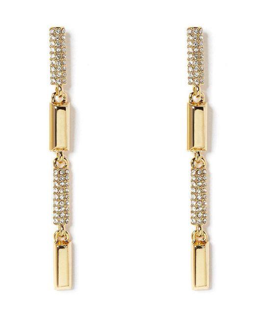 Vince Camuto | Metallic Pav Linear Drop Earrings | Lyst
