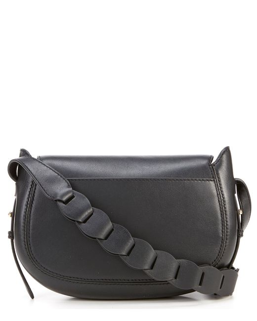 6befde5af4f4d ... MICHAEL Michael Kors - Black Jolene Small Saddle Messenger Bag - Lyst  ...