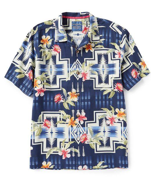 Tommy Bahama - Blue And Pendleton Aloha Harding Silk Short-sleeve Woven Camp Shirt for Men - Lyst