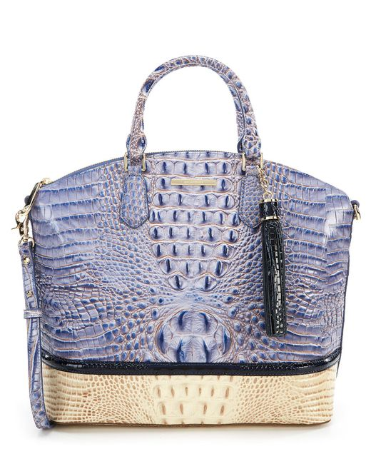 Brahmin - Blue La Paz Collection Large Duxbury Colorblock Satchel - Lyst