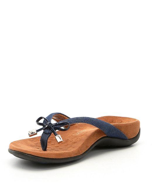 0edc2a6d78f1 ... Vionic - Blue Bella Ii Bow Detail Denim Flip-flops - Lyst ...