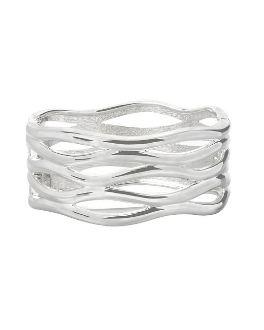 Robert Lee Morris - Metallic Sculptural Cut-out Hinged Bangle Bracelet - Lyst
