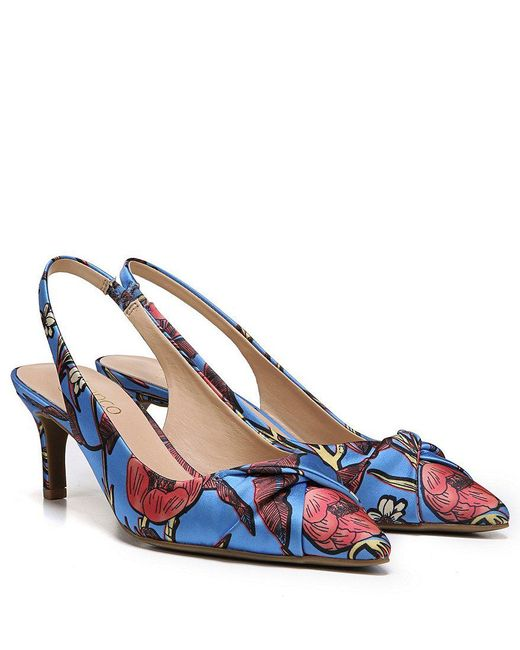 Dianora Botanical Satin Slingback Pumps