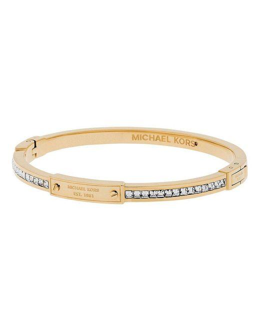 Michael Kors | Metallic Baguette Crystal Bangle Bracelet | Lyst