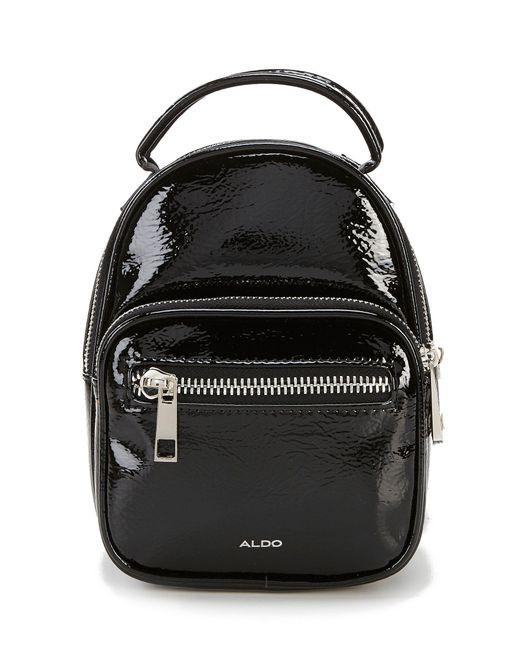 ALDO - Black Hiawatha Patent Mini Backpack - Lyst