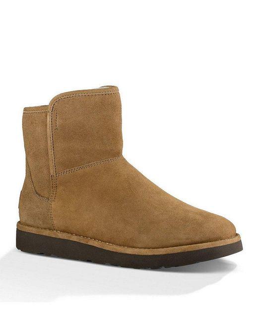 Ugg   Brown ® Abree Mini Suede Slip-on Booties   Lyst