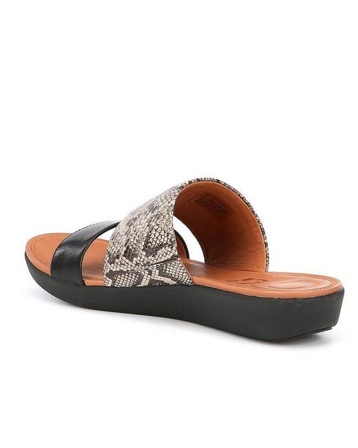 FitFlop Delta Snake Embossed Sandals pVWE3