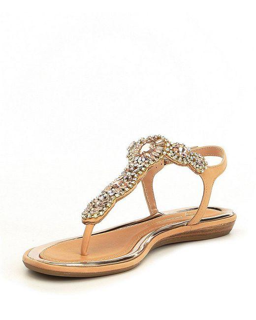 Santine Rhinestone Embellished Thong Sandals ran3I2144