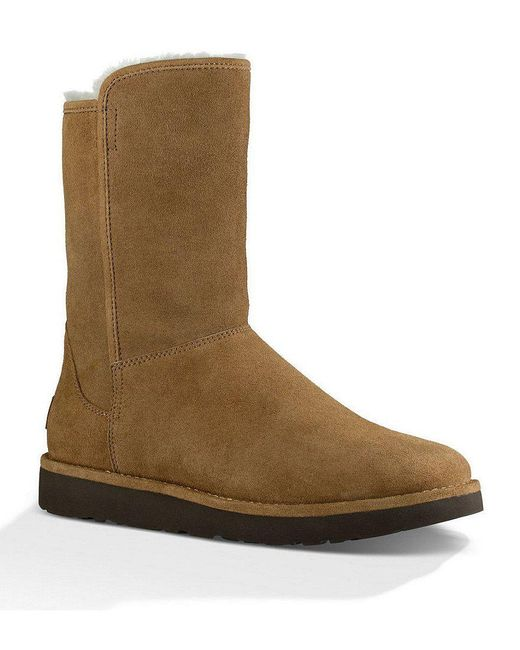 Ugg - Brown ® Abree Short Ii Suede Slip-on Sheepskin Lined Boots - Lyst