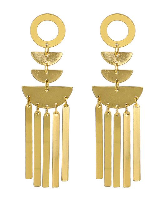 Panacea - Metallic Shiny Art Deco Statement Earrings - Lyst