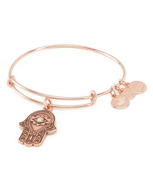 ALEX AND ANI - Metallic Hand Of Fatima Charm Bangle Bracelet - Lyst