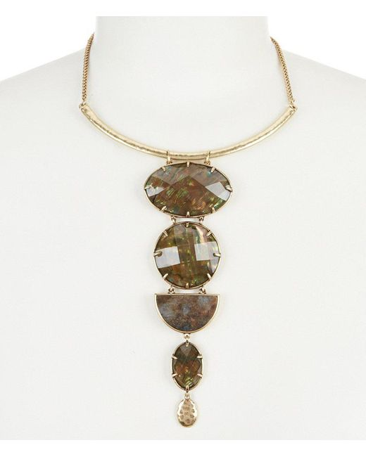Lucky Brand | Metallic Abalone Statement Necklace | Lyst
