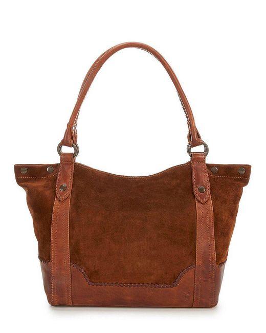 Frye   Brown Melissa Whip-stitched Shoulder Bag   Lyst