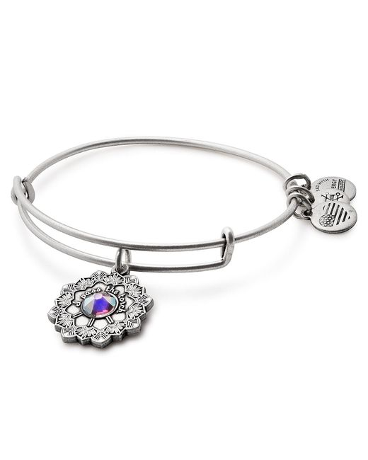 ALEX AND ANI - Metallic Mother Of The Bride Charm Bangle Bracelet - Lyst