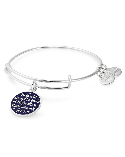 ALEX AND ANI Metallic Harry Potter Help Will Always Be Given Charm Bangle Bracelet