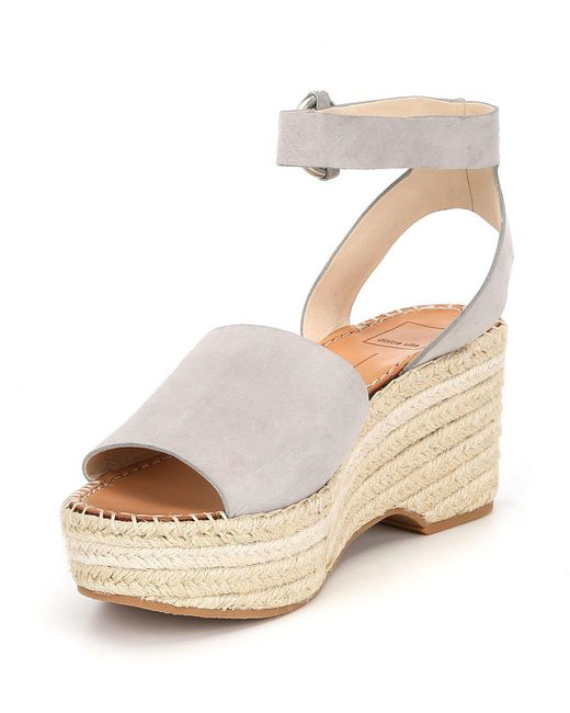 13f047a9b298 Lyst - Dolce Vita Lesly Ankle Strap Espadrilles in Gray - Save 51%