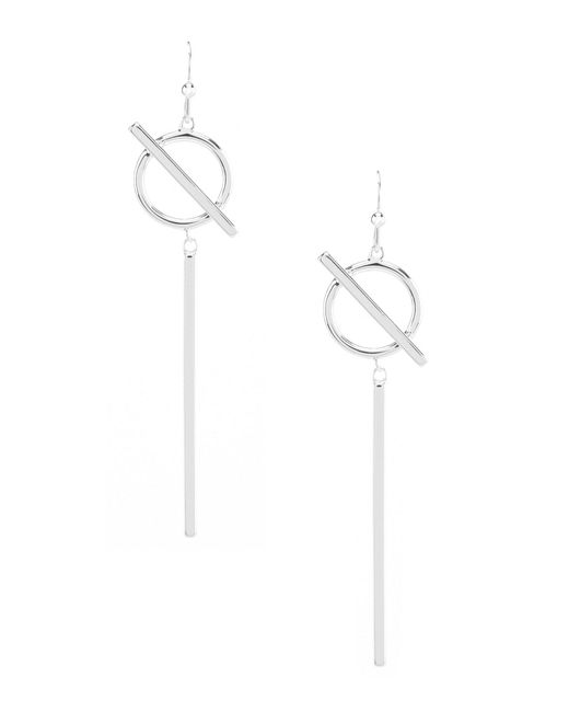 Argento Vivo - Metallic Geo Circle Stick Drop Earrings - Lyst