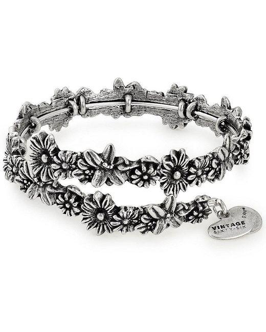 ALEX AND ANI - Metallic Metal Accents Flora Wrap Bracelet - Lyst