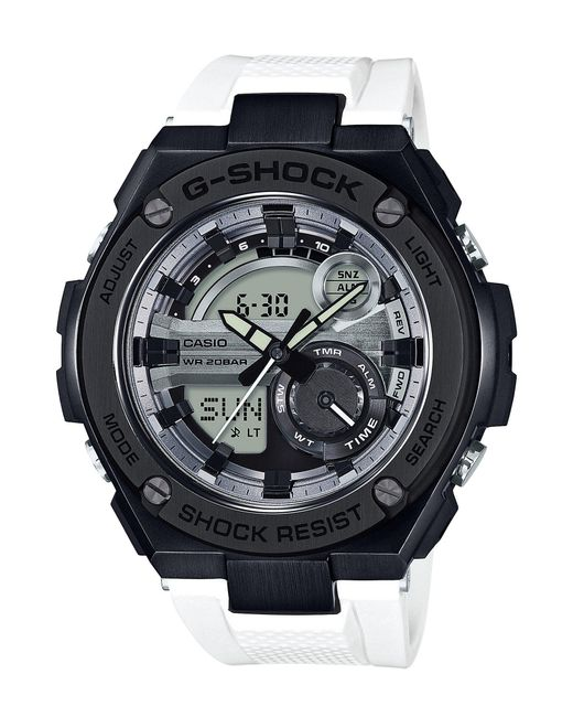 G-Shock - G-steel Black And White Ana-digi Watch for Men - Lyst
