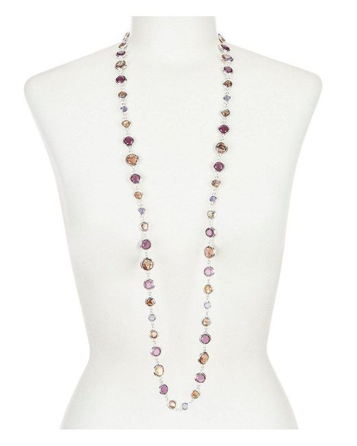 Anne Klein   Metallic Abalone Long Necklace   Lyst