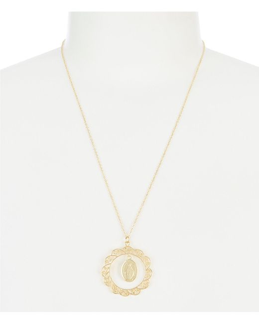 Argento Vivo - Metallic Open Lace Faith Pendant Necklace - Lyst