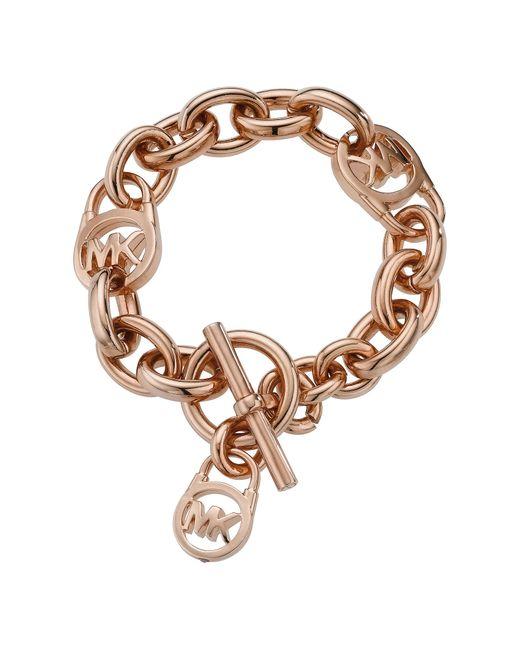 Michael Kors | Pink Padlock Toggle Bracelet | Lyst