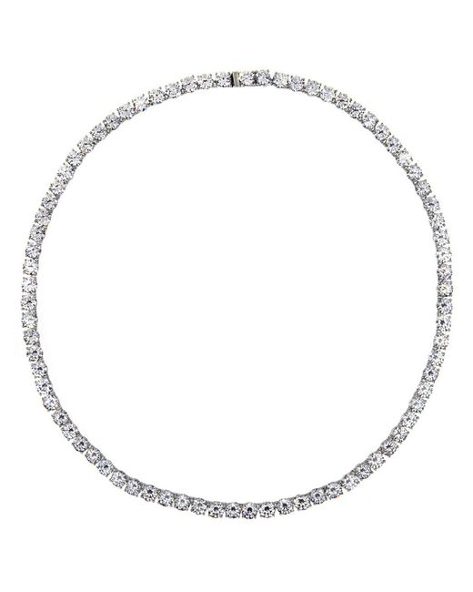 Nadri | Metallic All-around Cubic Zirconia Necklace | Lyst