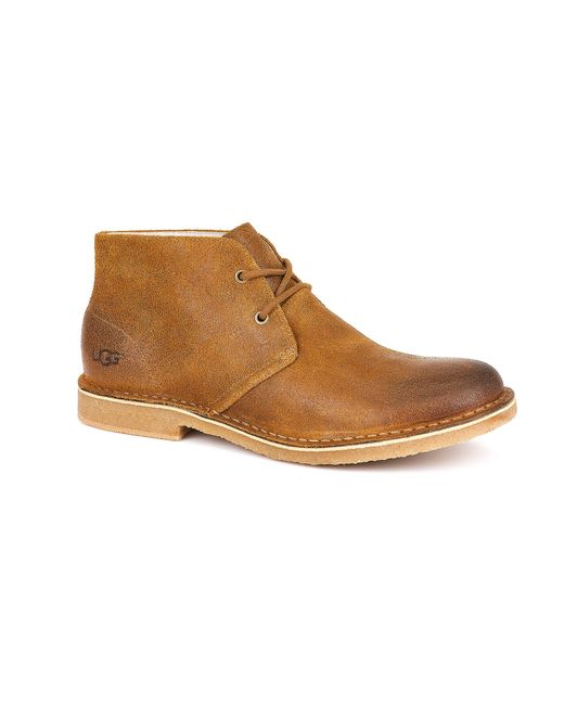 ugg 174 s leighton casual chukka boots in brown for
