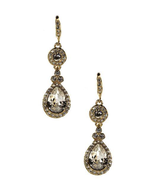Givenchy | Metallic Crystal Drop Earrings | Lyst