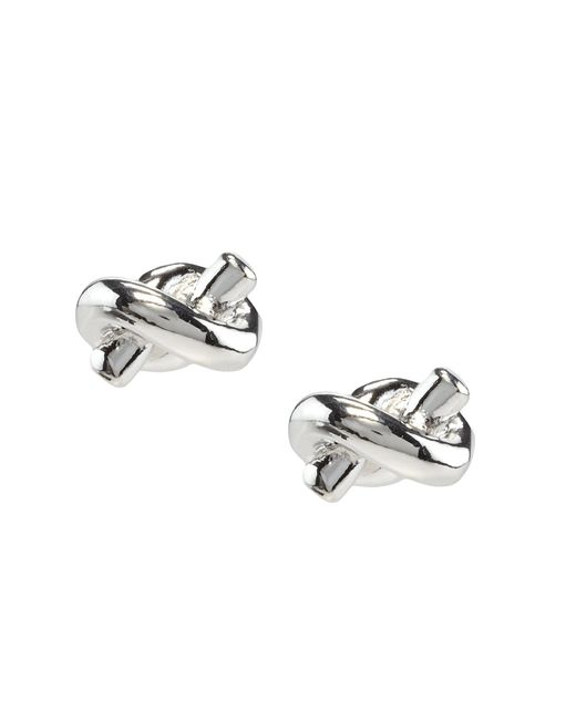 kate spade sailor knot earrings kate spade new york sailor s knot earrings in metallic lyst 2334