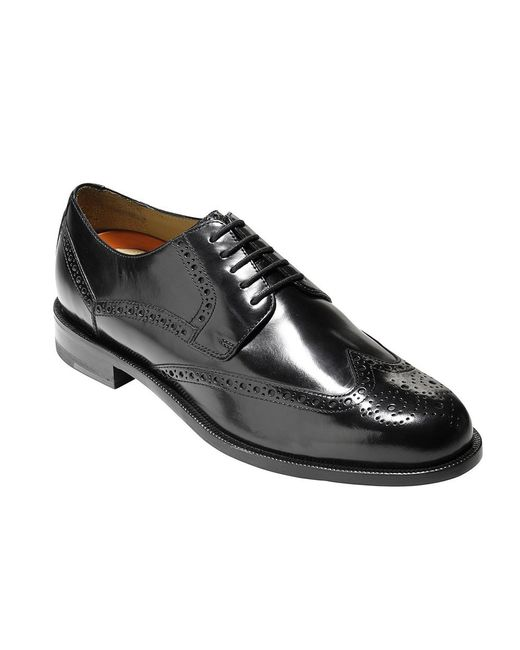 Cole Haan | Black Zerøgrand Wing-tip Oxford for Men | Lyst