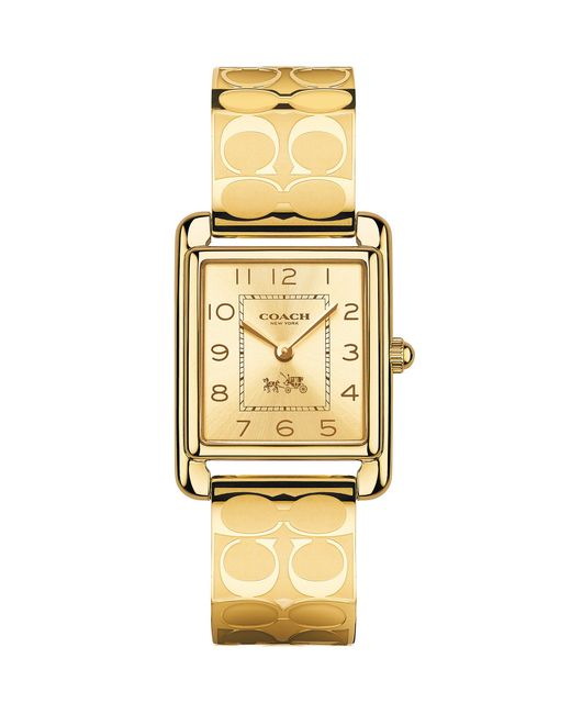 Coach Page Gold Bangle Watch In Lyst