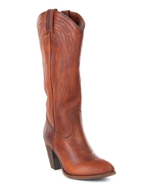 Frye | Brown Ilana Western Boots | Lyst