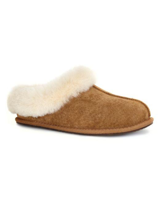 UGG | Brown Kendyl Shearling-trim Suede Slipper | Lyst