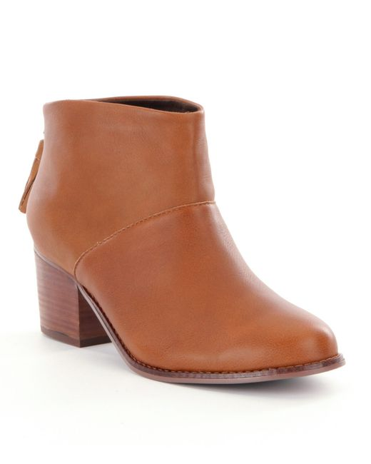 TOMS | Brown 'leila' Bootie | Lyst