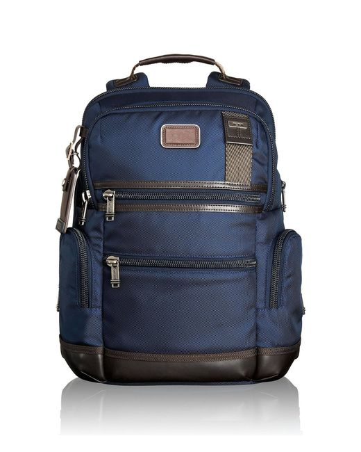 Tumi | Brown Alpha Bravo Navy Knox Backpack for Men | Lyst