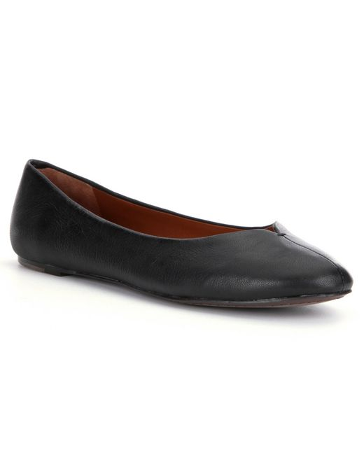 Lucky Brand | Black Finorah Leather Flats | Lyst
