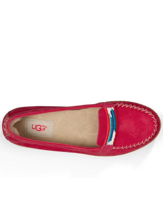 red ugg moccasins on sale