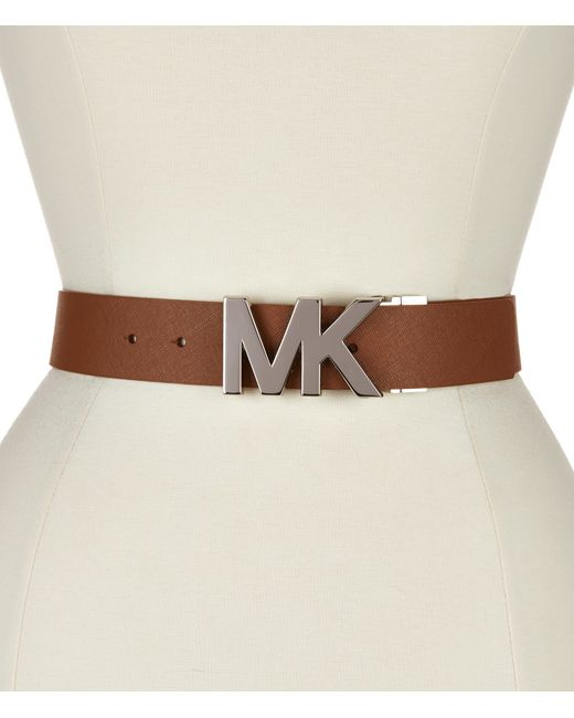 michael kors saffiano leather reversible belt in black