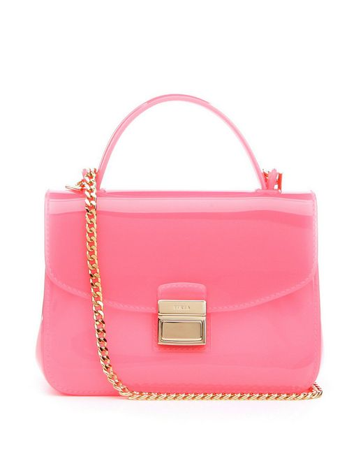 Furla | Pink Candy Candy Sugar Mini Chain Strap Cross-body Bag | Lyst