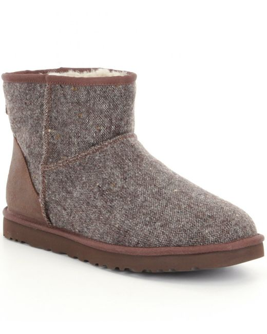 ugg classic mini donegal boots in gray grizzly donegal lyst. Black Bedroom Furniture Sets. Home Design Ideas