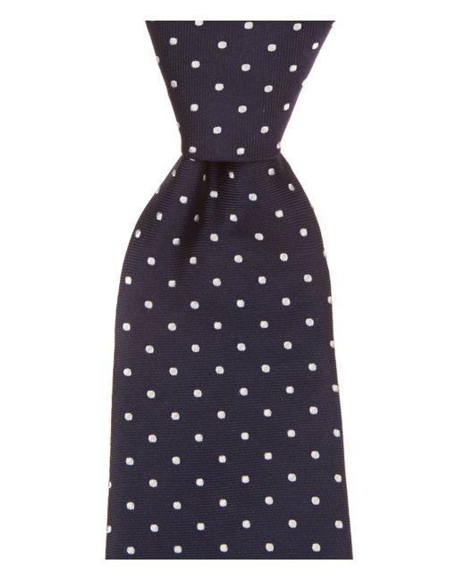 Brooks Brothers | White Dotted Silk Tie for Men | Lyst