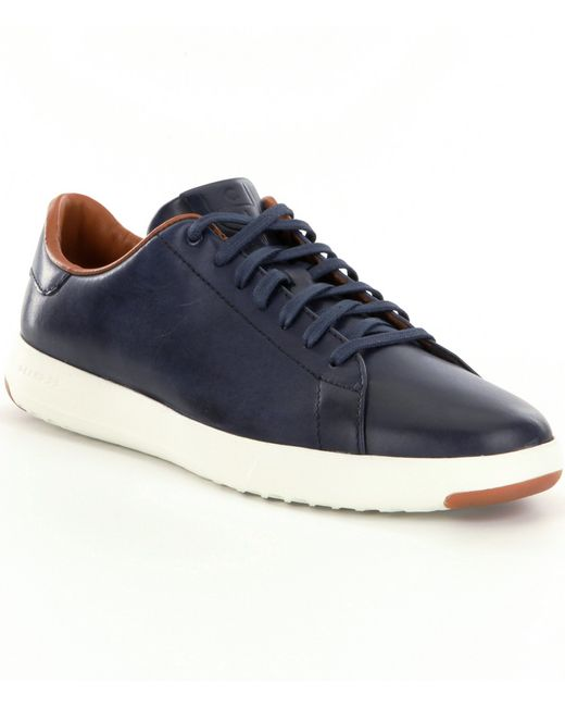 cole haan 180 s grandpro tennis shoes in blue for lyst