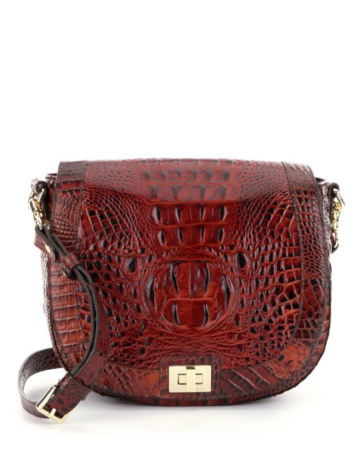 Brahmin | Brown Melbourne Collection Sonny Saddle Bag | Lyst