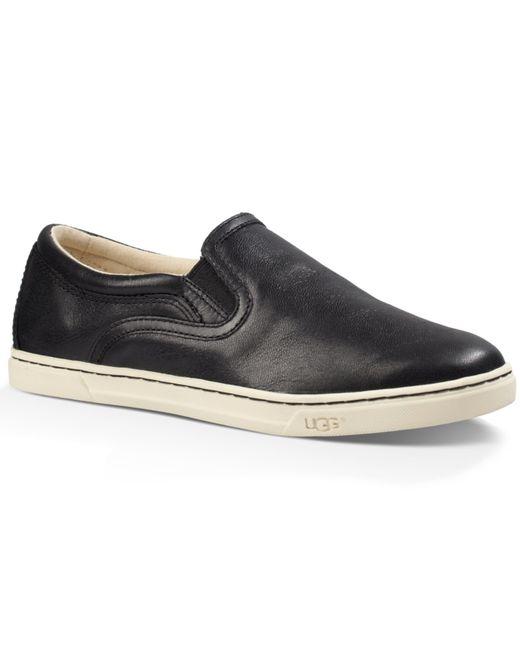Ugg 174 Fierce Leather Sneakers In Black Lyst