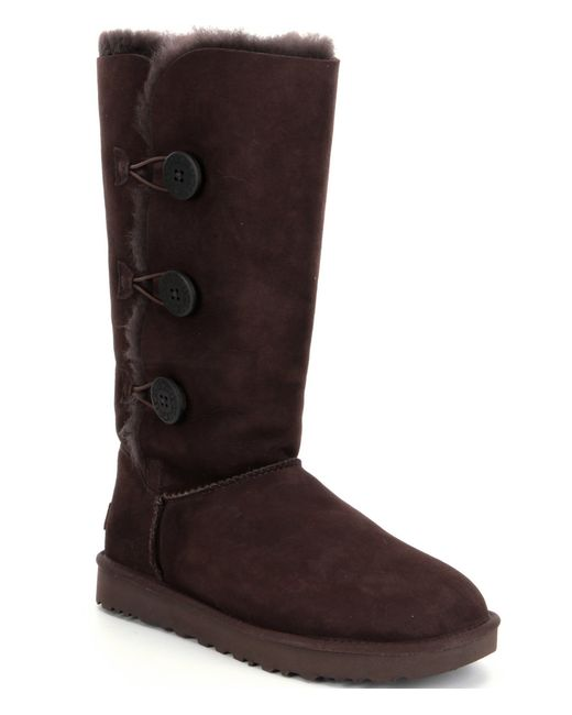 Ugg | Brown ® Bailey Button Triplet Ii Boots | Lyst